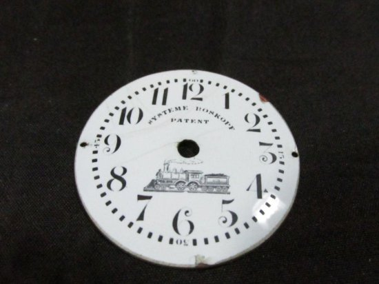 Antique Railroad Locomotive Pocket Watch Dial