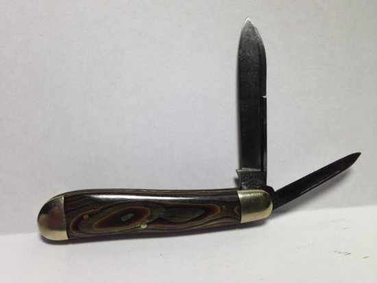 Rare Hibbard Spencer Bartlett & Co. Folding Knife W/unusual Scales