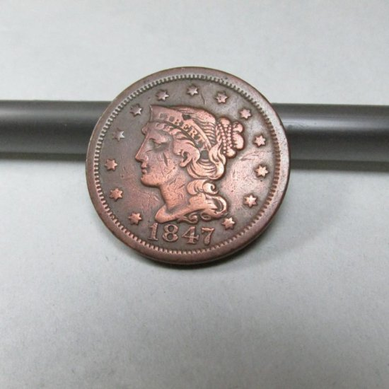 Nice 1847 Large Cent Coin