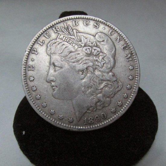 1890 Morgan Dollar Silver Coin