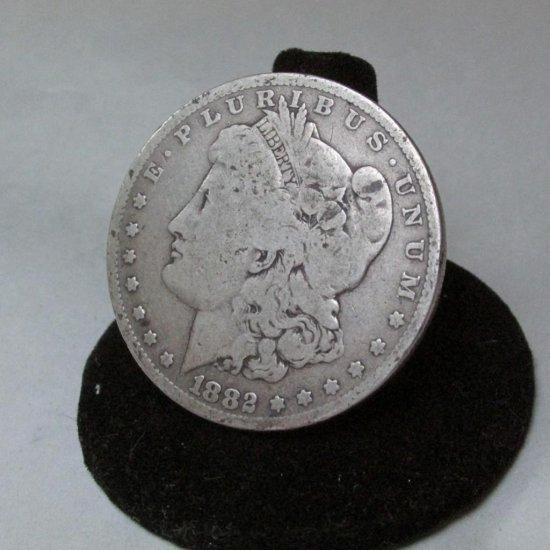 1882 Morgan Dollar Silver Coin