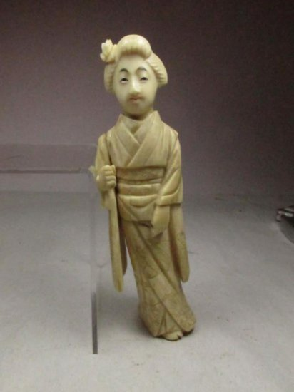 Antique Carved Ivory Figure Of A Woman - Chinese