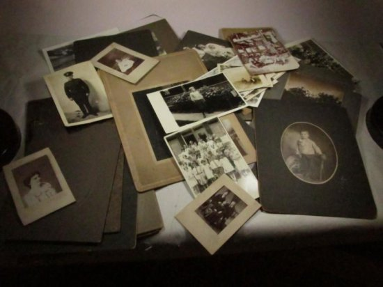 Large Group Lot Of Old Photos Including Military
