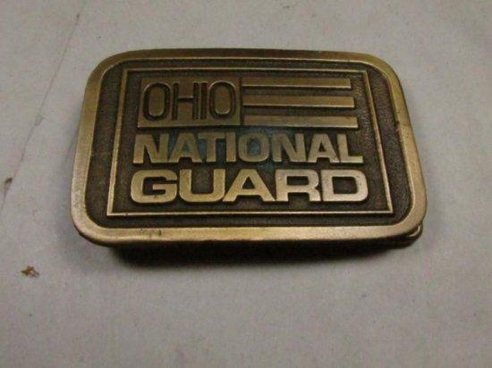 Vintage Ohio National Guard Belt Buckle