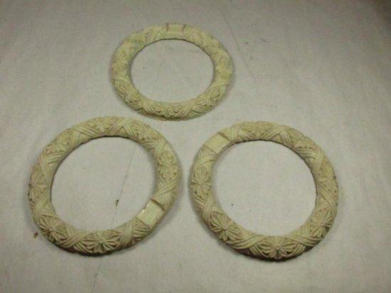 Three Antique Early Plaster Furniture Trim Pieces