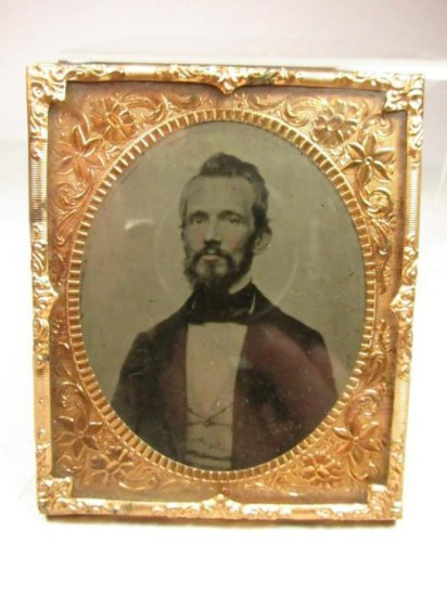 Antique 1/6 Plate Tintype Of A Man