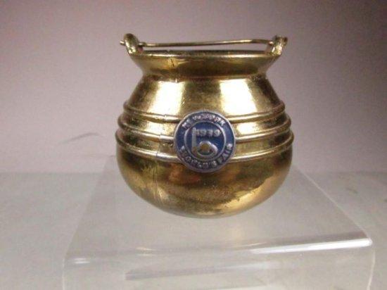1939 World's Fair New York Brass Pot Or Bucket