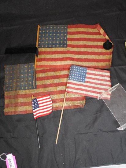 Antique Group Lot Of Four 48 Star Flags