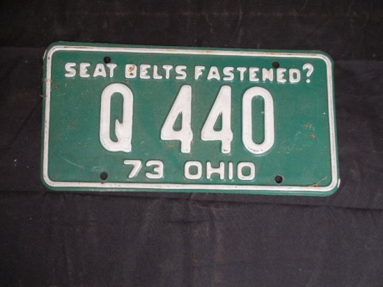 Old 1973 Ohio License Plate