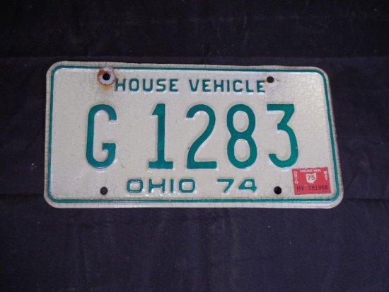 Vintage 1974 Ohio House Vehicle License Plate