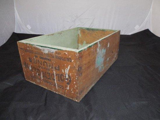 Antique Golden Glow Prunes California Fruit Crate