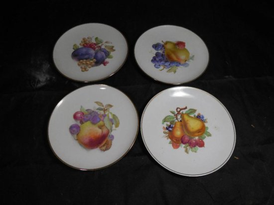 Group Of Four Decorated Bavaria Plates
