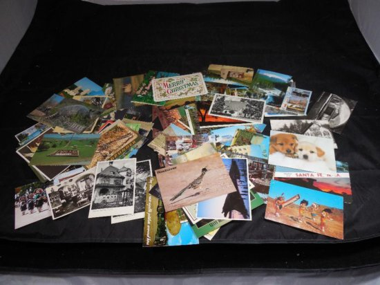 Very Large Group Lot Of Old Postcards