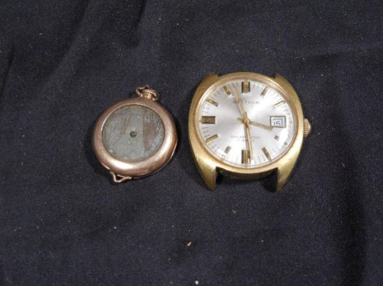 2 Antique Watches Including Waltham, Gold Filled