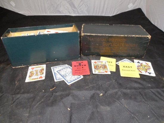 National Method Duplicate Whist Card Game Set In Box