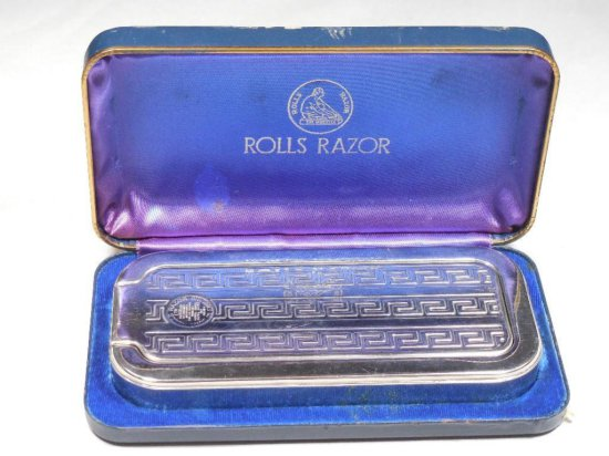 Antique Rolls Razor Safety Razor Strop Combo In Box