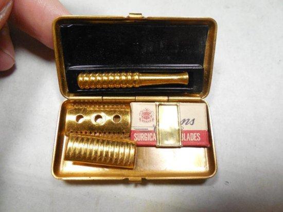 Rare Antique Miniature Razor Set in Box