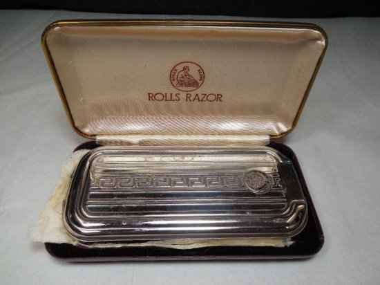 Rolls Razor Strop Combo Chrome Set Ni Box