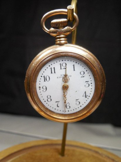 Antique Gold Filled New England Pocket Watch Cavour