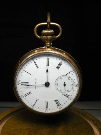 Nice Gold Filled Waltham Pocket Watch 16 Size 17 Jewels - Running