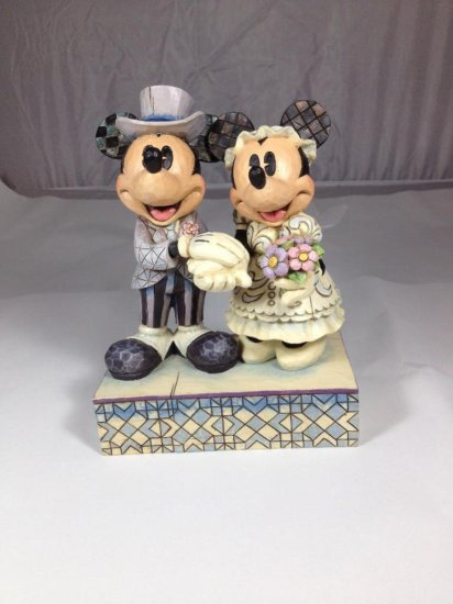 Mickey Mouse and Minnie Mouse Decorative Shelf Piece