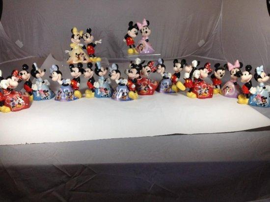 12 Mickey/Minnie Mouse Ceramic Bells