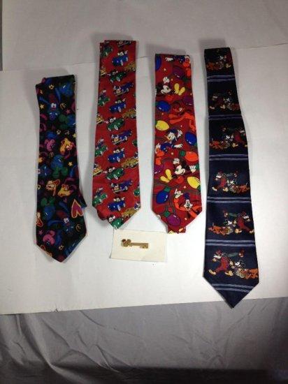 Four Disney ties PLUS Tie Pin