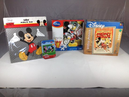 Group  lot of assorted Mickey Mouse Items