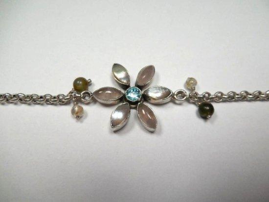 Vintage Sterling Silver Flower Necklace