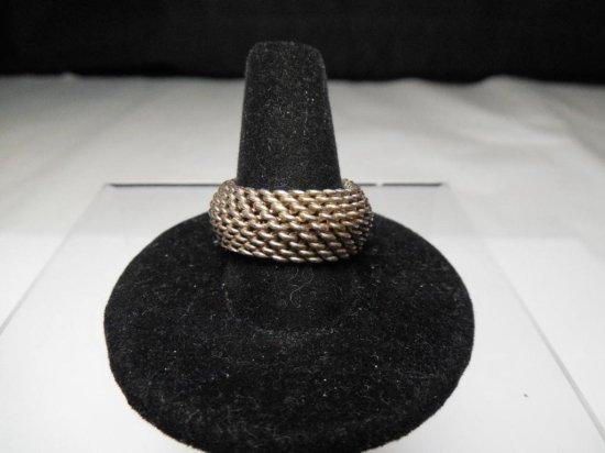 Vintage Sterling Silver Mesh Ring