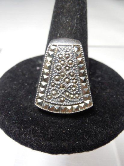 Vintage Mexican Sterling Silver And Marcasite Pendant