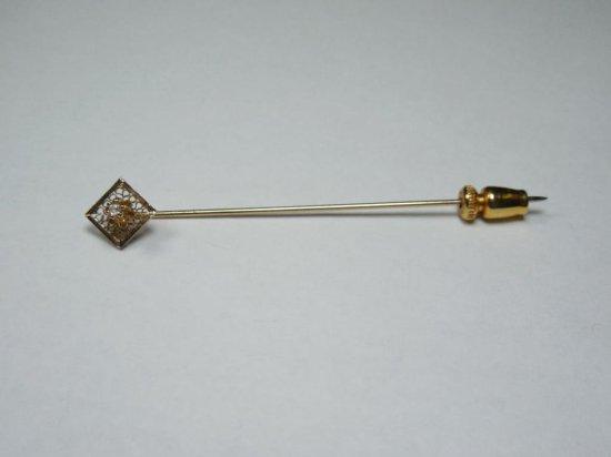 Antique Stick Pin W/genuine Diamond
