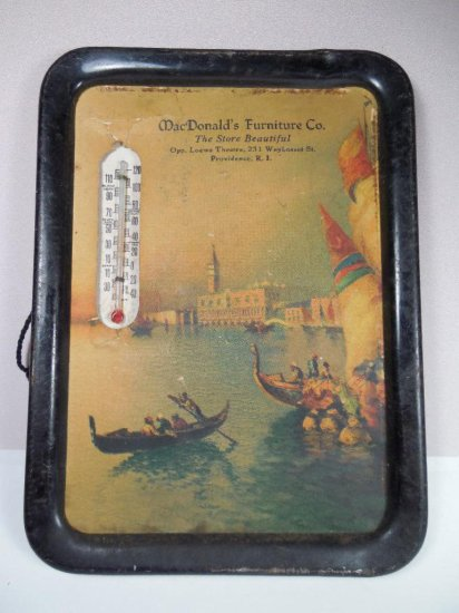 Antique Macdonald's Furniture Co. Advertising Thermometer