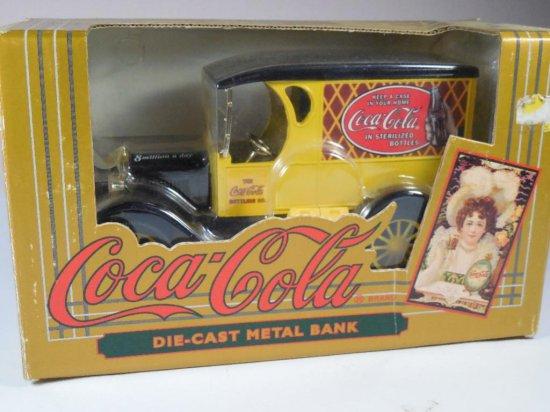 Coca-cola Advertising Die Cast Metal Bank
