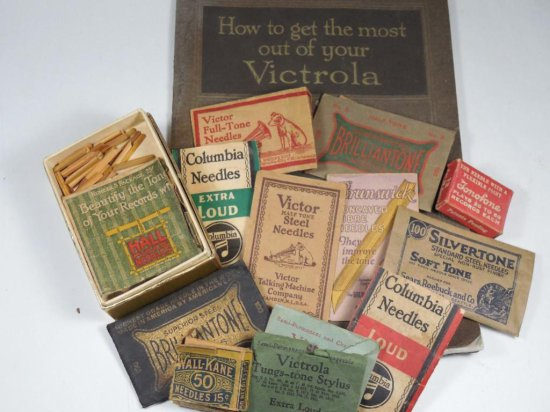 Victrola Book Plus Large Lot Of Phonograph Needles