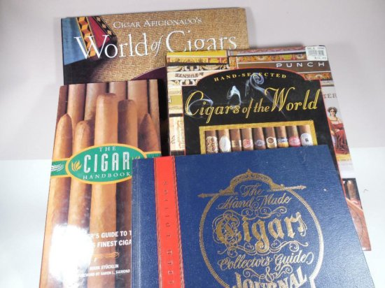 Group Lot Of Books On Cigars