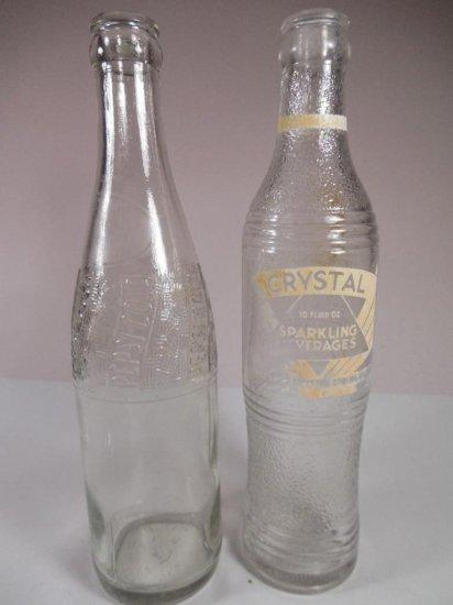 2 Vintage Soda Bottles