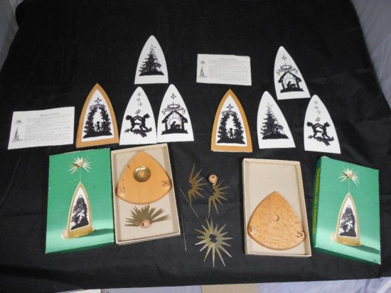 Pair Of German Candle Pyramids In Boxes.