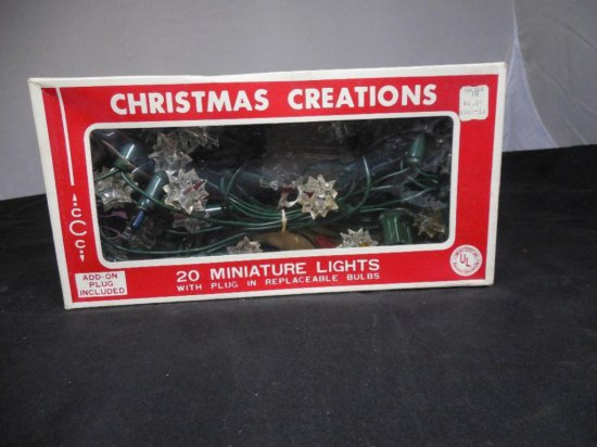Christmas Creations Miniature Light Set In Box