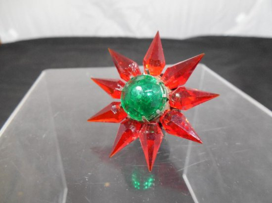Vintage Glass Matchless Star Ornament - C6 Size