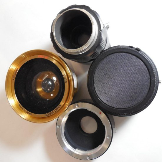 Group Lot Of Camera Lenses, Accessories