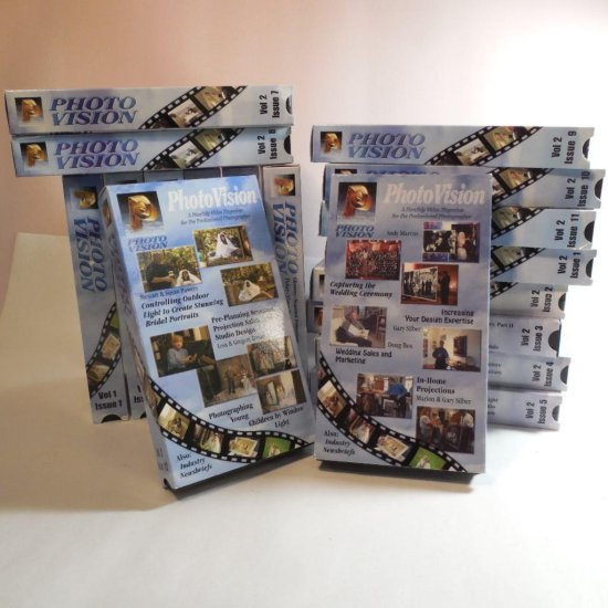 Group Of Photovision Photography Vhs Cassette Tapes