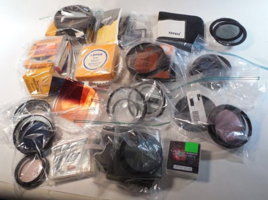 Huge Lot Of Camera Items - Mostly Filters
