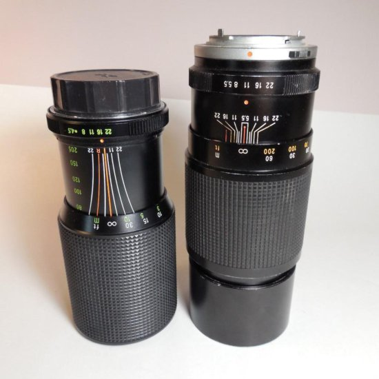 2 Camera Telephoto Lenses 205 Mm And 300 Mm
