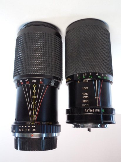 2 Nice Camera Telephoto Lenses 200 Mm And 205 Mm