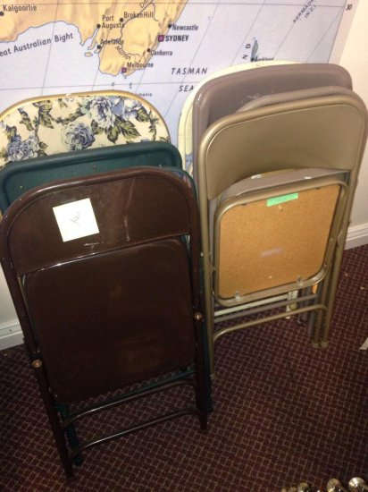 Group Of 8 Folding Chairs