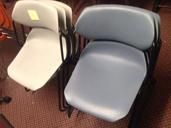 Group Of 7 Plastic And Metal Chairs