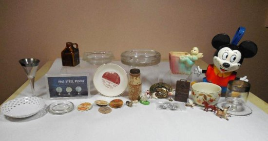Huge Group Lot Of Vintage And Antique Items Inc. Mickey Mouse
