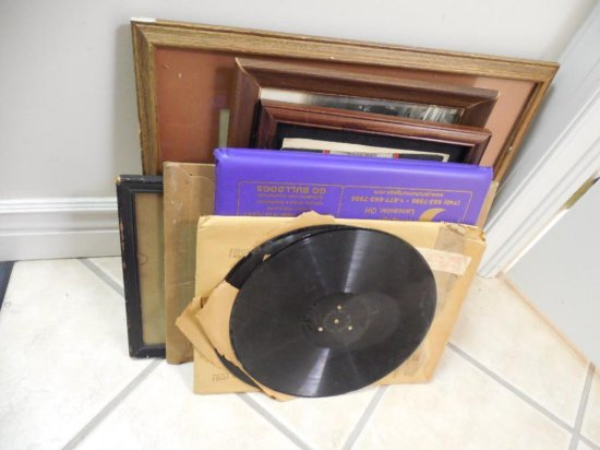 Records, Framed Art Lot