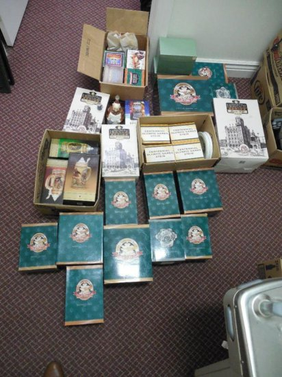 Huge Dealer Lot Of Budweiser And Other Steins In Boxes